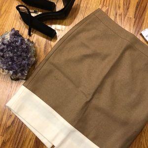 J. Crew pencil skirt wool blend size 2 NWT